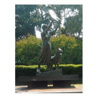 Sabana de la estatua del chica que agita, Georgia Tarjetas Postales