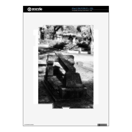 Sabana del cementerio de Bonaventure, GA Calcomanías Para El iPad 2