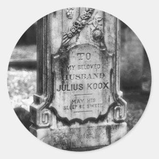Sabana del cementerio de Bonaventure, GA Pegatina Redonda