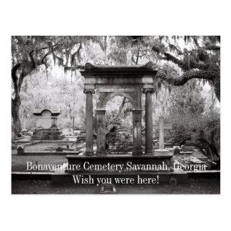 Sabana del cementerio de Bonaventure Tarjeta Postal