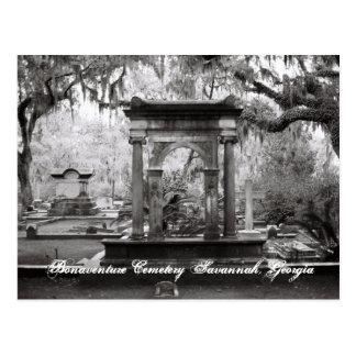 Sabana del cementerio de Bonaventure Tarjetas Postales