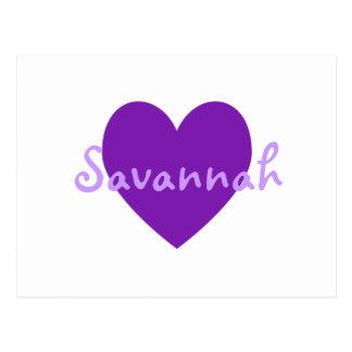 Sabana en púrpura postal