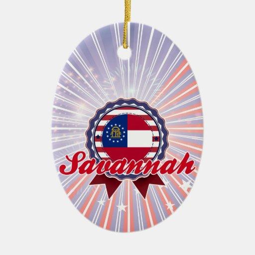 Sabana, GA Ornamento De Navidad