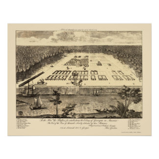 Sabana, mapa panorámico del GA - 1734 Poster