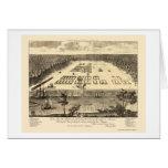 Sabana, mapa panorámico del GA - 1734 Tarjeta De Felicitación