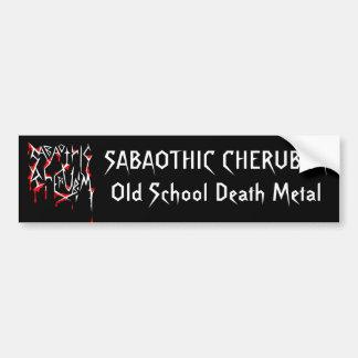 """Sabaothic Cherubim """"Old School Death Metal"""" Car Bumper Sticker"""