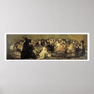 Sabat de las brujas de Francisco Goya Póster
