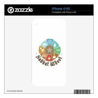 Sabbat Wheel Decal For iPhone 4