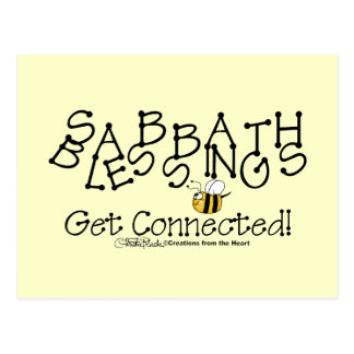 Sabbath Blessings Get Connected Postcard