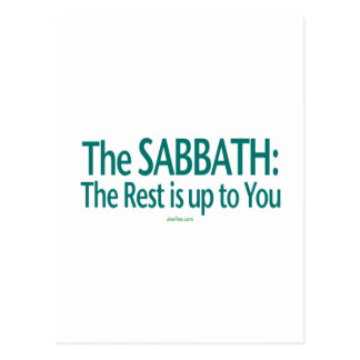 Sabbath The Rest Is Up To You Postcard