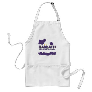 Sabbath with Candles- Enjoy the REST of Your Week Adult Apron