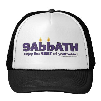 Sabbath with Candles- Enjoy the REST of Your Week Trucker Hat