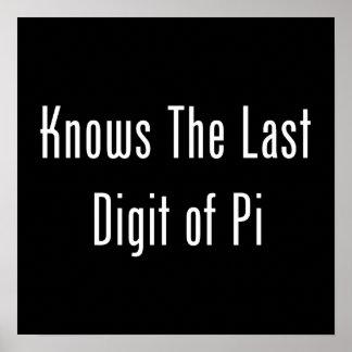 Sabe el dígito pasado del pi póster