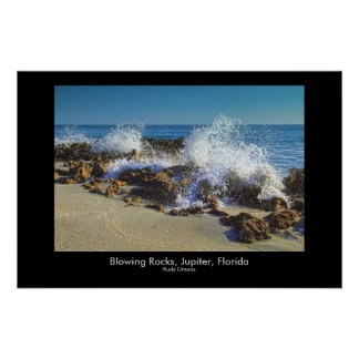 Sabellariid Worm Reefs Coral Cove - Blowing Roc... Poster