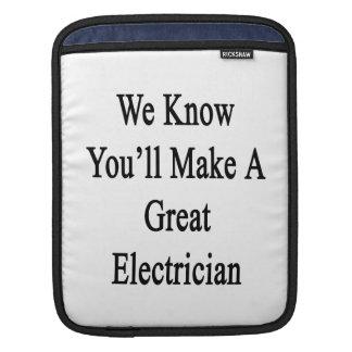 Sabemos que usted hará a un gran electricista fundas para iPads