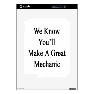 Sabemos que usted hará a un gran mecánico skins para iPad 2