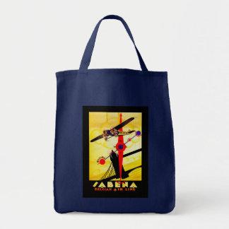 Sabena Art Deco Compass Grocery Tote Bag