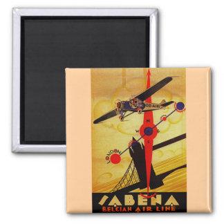 Sabena Art Deco Compass 2 Inch Square Magnet