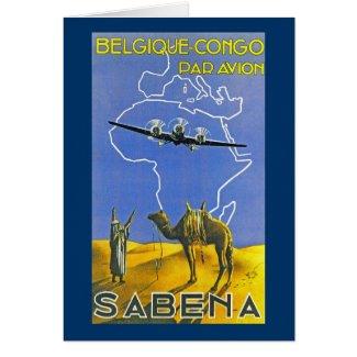 Sabena ~ Belgique Congo card