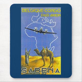 Sabena ~ Belgique Congo Mouse Pad