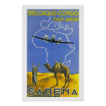 Sabena ~ Belgique Congo Posters