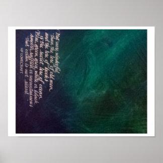 Saber de Lovecraft de la caligrafía de la pintura Póster