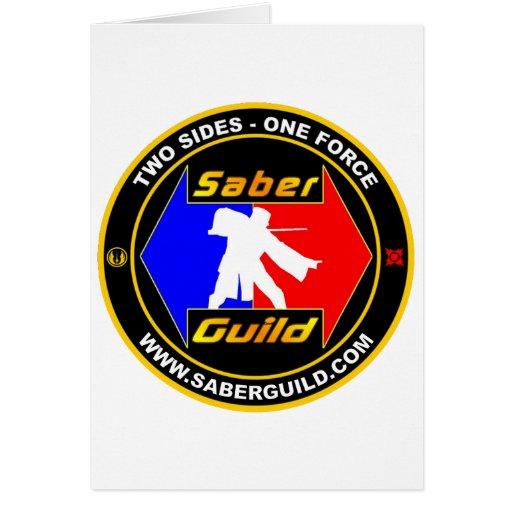 SABER GUILD GREETING CARD