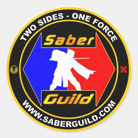 SABER GUILD CLASSIC ROUND STICKER