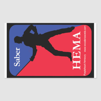 Saber HEMA decal Rectangular Sticker
