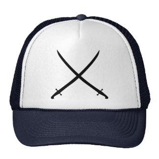 Saber sword crossed mesh hat