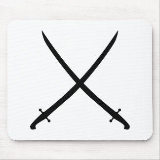Saber sword crossed mouse pad