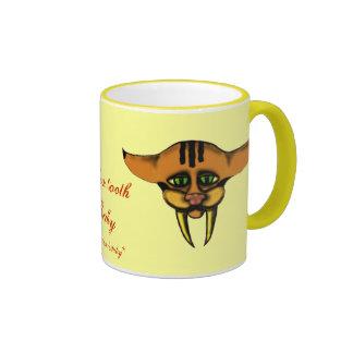 Saber-tooth baby mug design