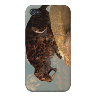 Saber-Tooth on a Rock iPhone 4 Cover