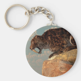 Saber-Tooth on a Rock Keychains