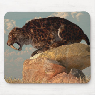 Saber-Tooth on a Rock Mouse Pad