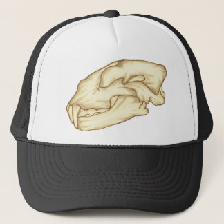 Saber Tooth Skull Trucker Hat