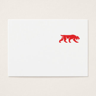 Saber Tooth Tiger Cat Silhouette Retro Business Card