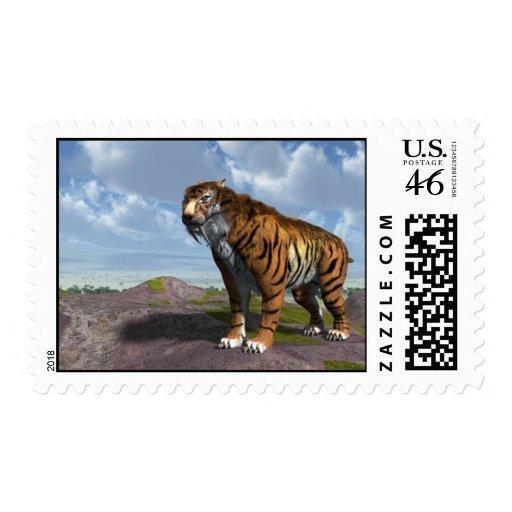 Saber Tooth Tiger Postage Stamps