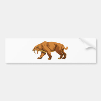Saber-toothed Cat Bumper Sticker