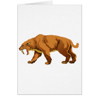 Saber-toothed Cat Greeting Card