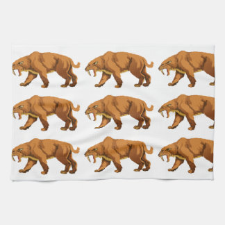 Saber-toothed Cat Kitchen Towels