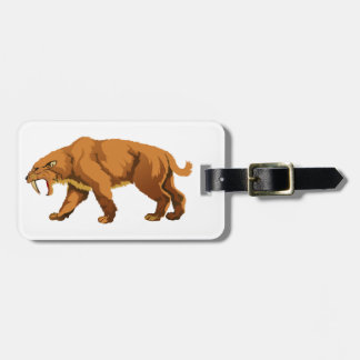 Saber-toothed Cat Travel Bag Tags