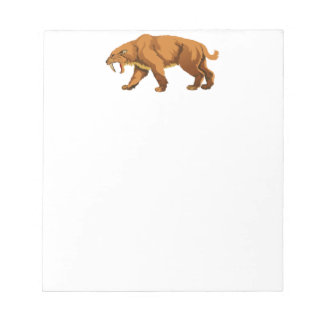 Saber-toothed Cat Memo Note Pad