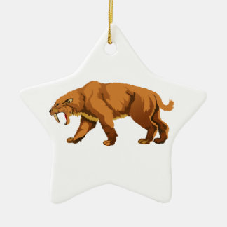 Saber-toothed Cat Christmas Ornament