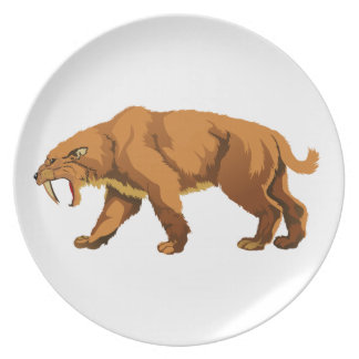 Saber-toothed Cat Dinner Plate