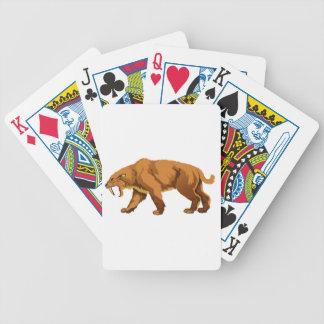 Saber-toothed Cat Poker Cards