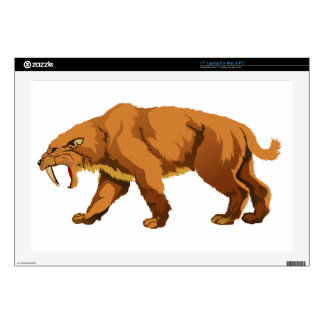"""Saber-toothed Cat Decals For 17"""" Laptops"""