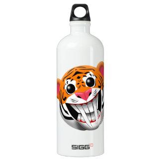 saber-toothed tiger aluminum water bottle