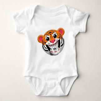 saber-toothed tiger baby bodysuit