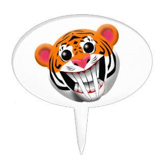 saber-toothed tiger cake topper